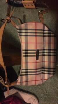 white, black, and red plaid backpack Cambridge, N1T 1P7