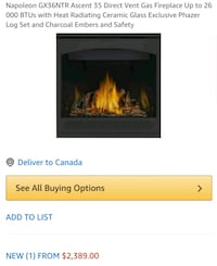 Natural gas fireplace  Mississauga, L5J 2Y4