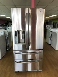 LG stainless steel double French door refrigerator  29 mi