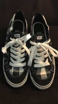 Checkered Tory Vans shoes
