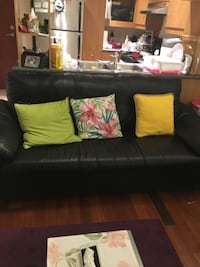 black leather 2-seat sofa MONTREAL