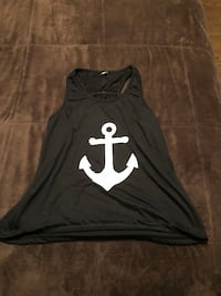 Women's black anchor tank top with pink bow on back  New Caney, 77357