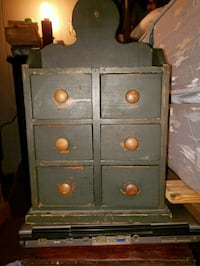 Antique small green hanging cabinet Franklinton, 70438