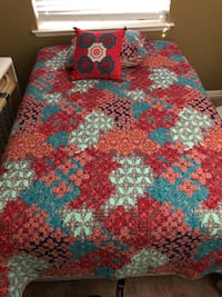 Red, blue, and white floral textile Dallas, 75229