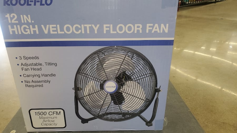 12 in small high velocity metal fans 9