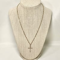 Sterling Silver Mother of Pearl Cross Pendant with Sterling Rope Chain Ashburn, 20147