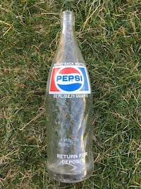 Pepsi old Soda Glass Collectable Bottle