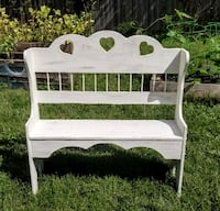 White Wooden Bench Norfolk