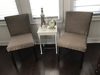 2 newly upholstered brown chairs. Vaughan, L4H
