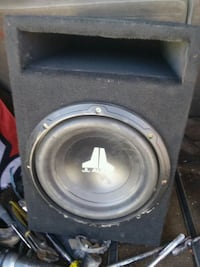 black and gray Pioneer subwoofer speaker Reno