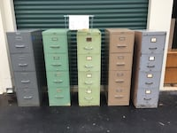 4-Drawer File Cabinets Assorted Colors, Item #'s CVA22-26  Clover, 29710