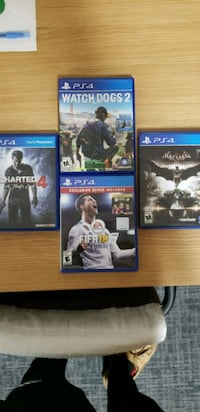 4 PS4 Video Games in Good Condition Washington, 20016