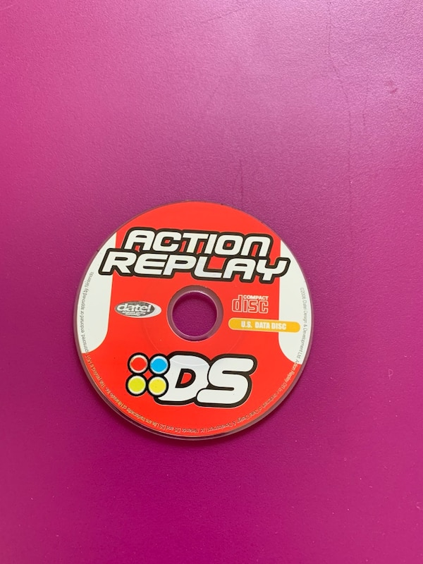 Datel Action Replay DS Code Manager PC CD-Rom Software Disc! AR DS Nintendo  Pokemon Cheat Codes !