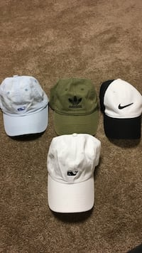 Assorted hats (Nike, adidas, vineyard vines)  North Granby, 06060