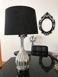 Silver Glass Lamp with lamp shade
