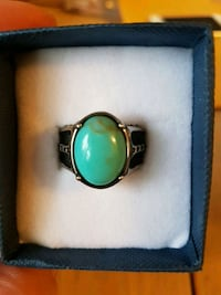 Mens stainless steel turquoise stone ring  size 11
