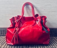 Gorgeous Red Patent-Leather Furla Handbag