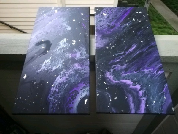 Set of 2 12inch by 24inch acrylic paintings 0645a55c-218b-45cc-b2fe-4ae49a0e78ca