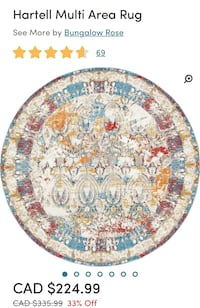 8ft round carpet  Brampton, L6Z 1R2