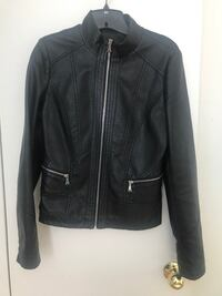 black leather zip-up jacket Toronto, M2J 1K1
