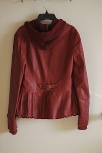 red scoop-neck long-sleeved shirt North Plainfield