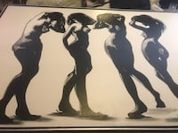 """Large 40""""x 60""""painting in silver/black frame Essex, 21221"""