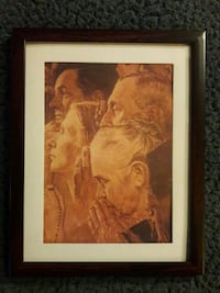 """NORMAN ROCKWELL """"FREEDOM OF WORSHIP"""" PICTURE Redford Charter Township"""