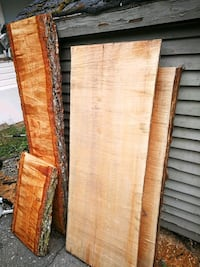 Two beautiful yellow maple wood slabs 22 in by 50 plus by 3 in thick  Maple Ridge, V2X 4B2