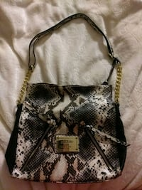 black and gray snakeskin leather shoulder bag Clearfield, 84015