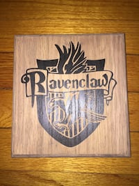 Harry Potter oak wood routed stained and painted sign