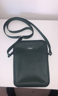 Leather Lacoste side bag