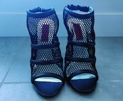 New black mesh heels from Town Shoes