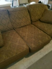 brown and black fabric sofa Turlock, 95380