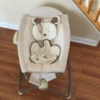 baby's white and gray bouncer Rockville, 20853