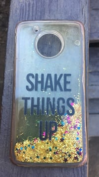 gold, pink, and blue glitter shake things up-printed smartphone case Marietta, 30064