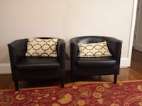 Black leather chairs Rockville, 20853