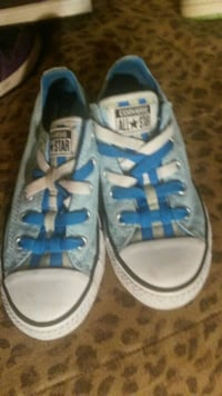 pair of white Converse low-top sneakers Idaho, USA
