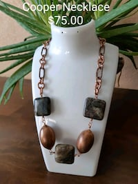 white and brown beaded necklace Dufresne, R0A 0J0