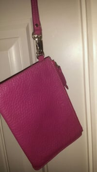 Cole Haan pink leather wristlet excellent condit