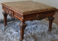 Marble-topped Ornate Hardwood Table. BEAUTIFUl and UNIQUE. Original price $1,039. Las Vegas
