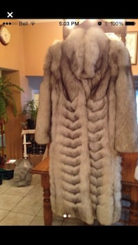 Genuine Silver/Blue fox fur coat