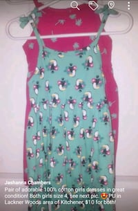 Girls size 4 dresses, styles and prices vary Kitchener, N2A 4B9