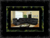 Cshape sectional black bonded leather Gaithersburg