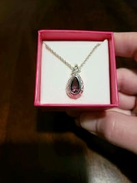 Silver Avon necklace with purple stone St. Catharines, L2W 1B6