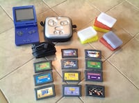 Nintendo DS Game Boy Advance with game cartridges