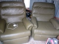 two brown leather sofa chairs Edinburg, 78542