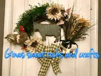 Country farmhouse wreath Waldorf, 20601