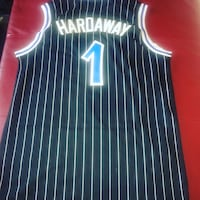 black and white number 1 Hardaway jersey shirt Frisco, 75034