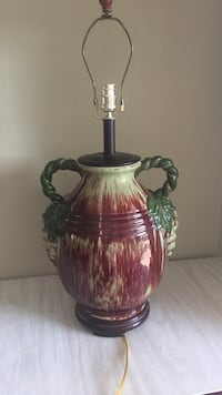 red and green ceramic lamp base Oakland Park, 33334