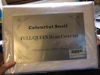 Brand-new!!! Colourful Snail 100-Percent Cotton Duvet Cover Set, Hidden Zipper Closure, Ultra Soft, durable and Fade Resistant, Queen/Full, White